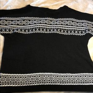 Black & White Dolman Sweater